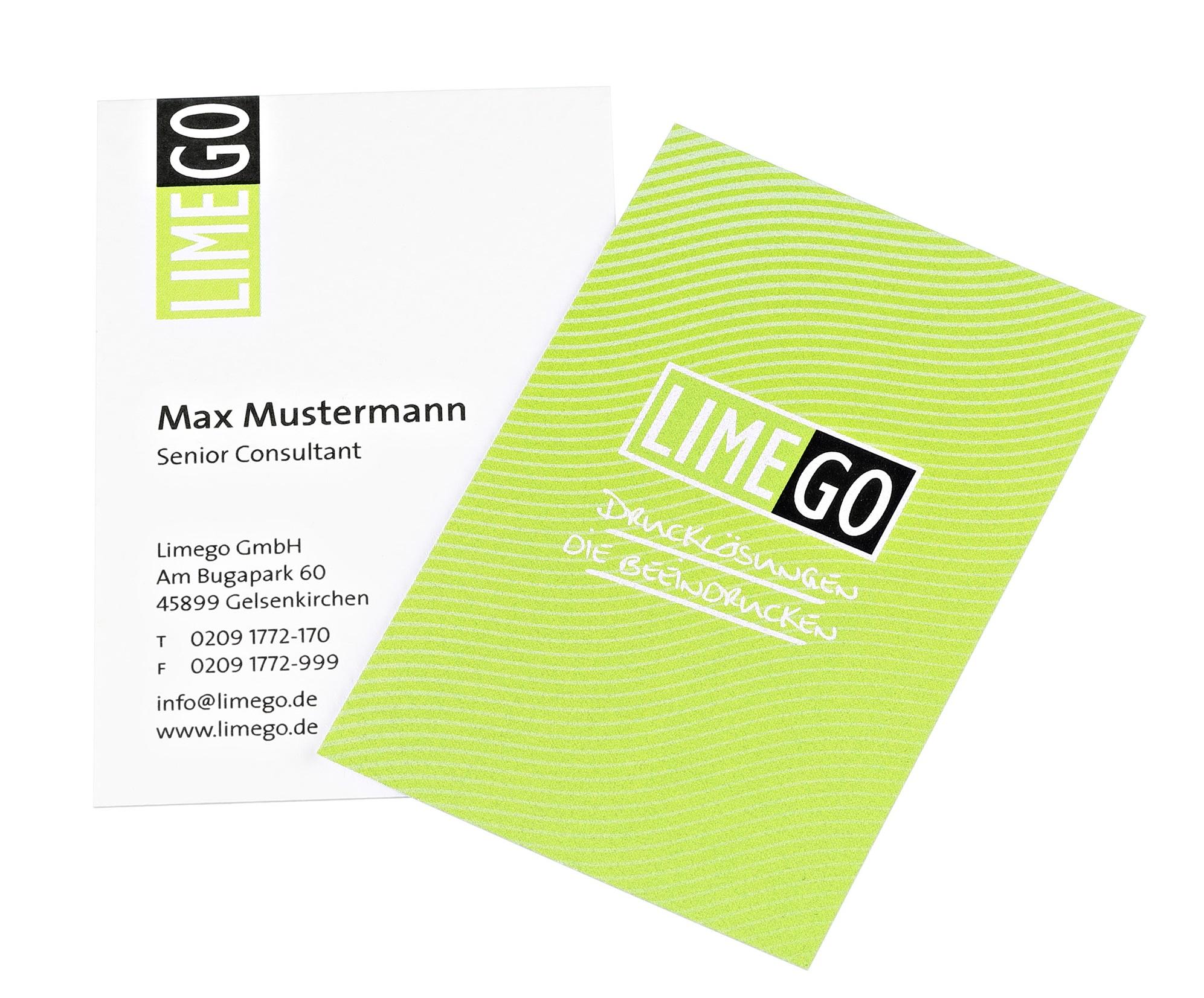 Limego Edle Visitenkarten Drucken Mit Eigenem Layout